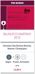 Saumur Champigny 2012